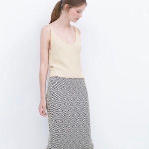 Zara Knit Aztec Pencil Skirt